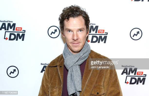 """Benedict Cumberbatch visits BuzzFeed's """"AM To DM"""" on October 22, 2019 in New York City."""