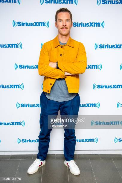 Benedict Cumberbatch visits SiriusXM Studios on November 1, 2018 in New York City.