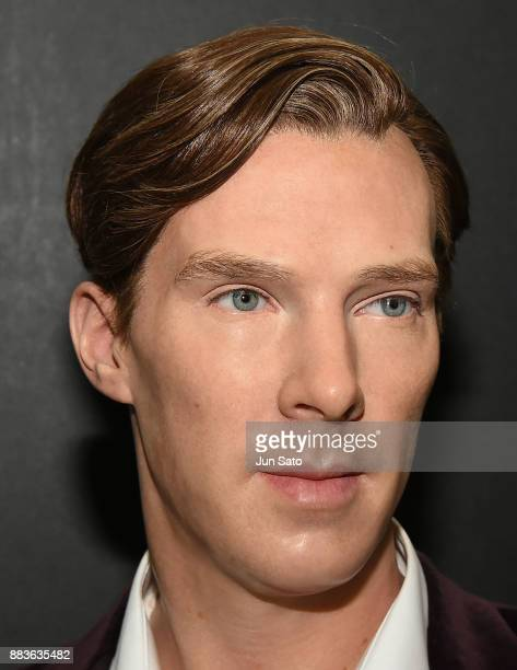 Benedict Cumberbatch wax figure is displayed at Madam Tasseau Tokyo booth during the opening day of Tokyo Comic Con at Makuhari Messe on December 1...