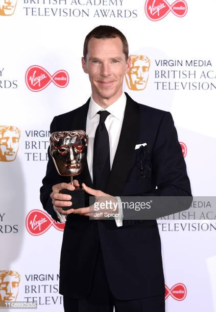 Benedict Cumberbatch, winner of the Best Leading Actor Award for 'Patrick Melrose' in the Press Room at the Virgin TV BAFTA Television Award at The...
