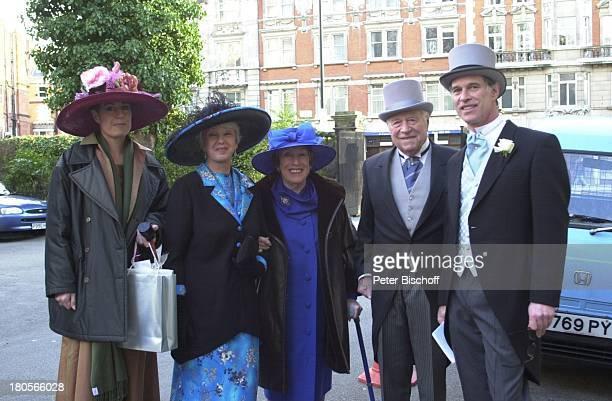 Benedict Freitag, Robert Freitag, Ex-Frau;Maria Becker, Ehefrau Maria Sebaldt,;Begleitung von B. Freitag, ,;Hochzeit von Oliver...