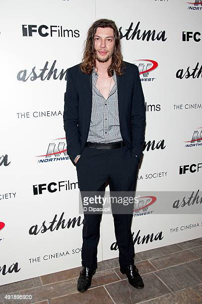 Benedict Samuel attends a screening of IFC Films' Asthma hosted by The Cinema Society and Northwest at The Roxy Hotel on October 8 2015 in New York...