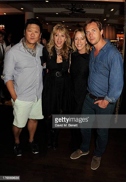 Benedict Wong Sonia Friedman Claudie Blakley and Stephen Campbell Moore attend an after party following the press night performance of 'Chimerica' at...