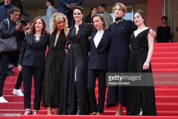 Benedicte Couvreur Valeria Golino Naomie Merlant Celine Sciamma Adele Haenel and Luana Bajrami attend the screening of Portrait Of A Lady On Fire...