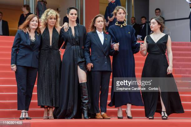 Benedicte Couvreur Valeria Golino Naomie Merlant Celine Sciamma Adele Haenel and Luana Bajrami attend the screening of Portrait Of A Lady On Fire...