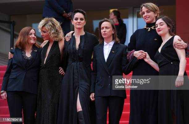 Benedicte Couvreur Valeria Golino Noemie Merlant Celine Sciamma Adele Haenel and Luana Bajrami attend the screening of Portrait Of A Lady On Fire...