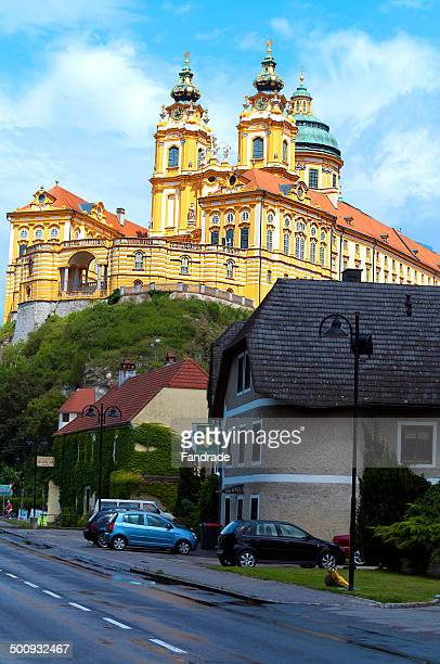 benedictine abbey of melk, austria - abbey monastery stock pictures, royalty-free photos & images
