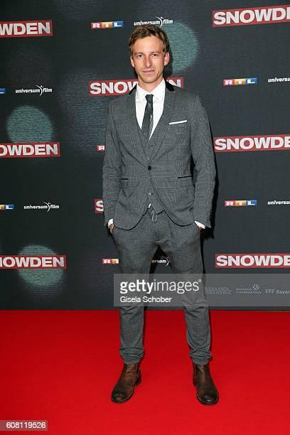 Benedikt Ben Blaskovic during the Europe premiere of the film 'Snowden' at Mathaeser Filmpalast on September 19 2016 in Munich Germany