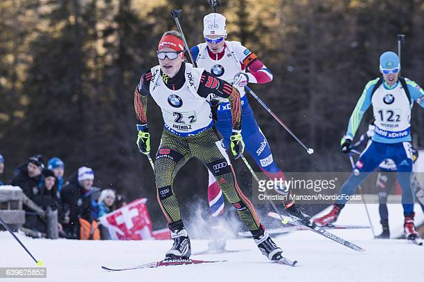 Benedikt Doll of Germany competes during the 4x75 km men's Relay on January 21 2017 in AntholzAnterselva Italy