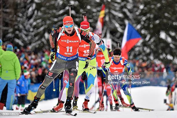 Benedikt Doll of Germany competes during the IBU Biathlon World Cup Men's and Women's Pursuit on January 23 2016 in AntholzAnterselva Italy
