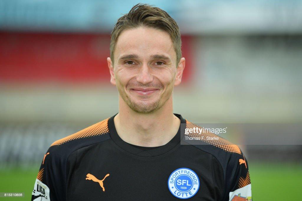 Benedikt Fernandez poses during the Third League team presentation of Sportfreunde Lotte at Frimo Stadium on July 16, 2017 in Lotte, Germany.