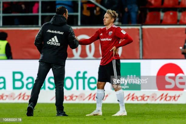 Benedikt Gimber of FC Ingolstadt looks on during the Second Bundesliga match between FC Ingolstadt 04 and 1 FC Union Berlin at Audi Sportpark on...