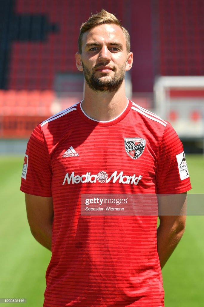 Benedikt Gimber of FC Ingolstadt poses during the team presentation at Audi Sportpark on July 19, 2018 in Ingolstadt, Germany.