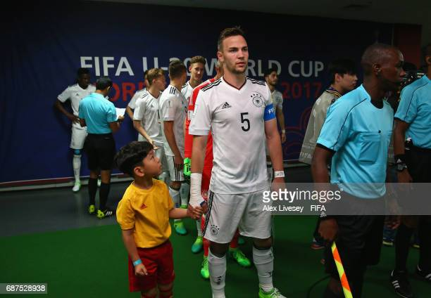 Benedikt Gimber of Germany gets ready to lead his team out prior to the FIFA U20 World Cup Korea Republic 2017 group B match between Mexico and...