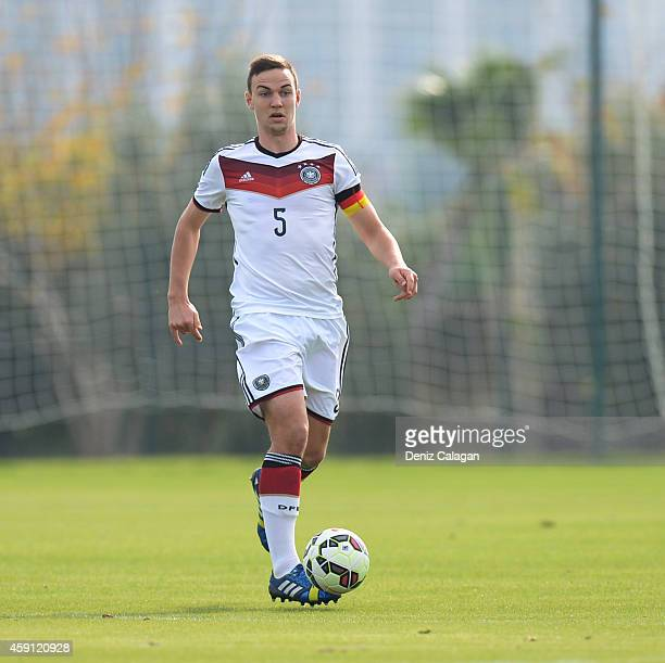 Benedikt Gimber of Germany in action during the international friendly match between U18 Germany and U18 Turkey on November 17 2014 in Side Turkey