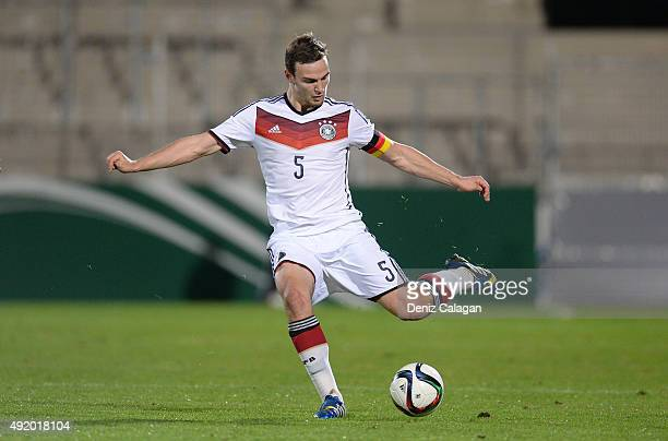 Benedikt Gimber of Germany in action during the U19 MercedesBenz Elite Cup between Germany and Mexico at Mechatronik Arena on October 9 2015 in...
