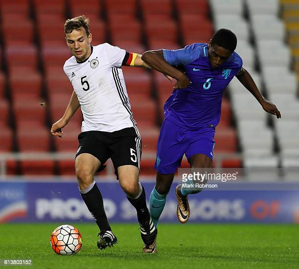 Benedikt Gimber of Germany U20 and Pablo Rosario of the Netherlands U20 during the U20 International Friendly match between Germany and Netherlands...