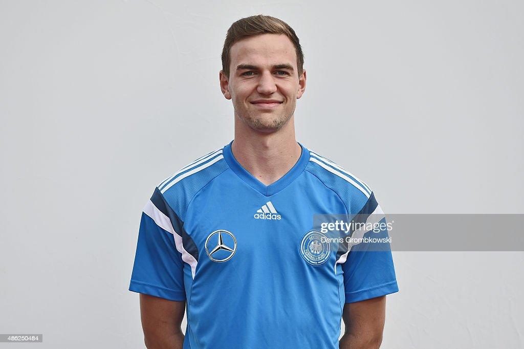 Benedikt Gimber poses during the Germany Under 19 Team Presentation on September 2, 2015 in Bergisch Gladbach, Germany.