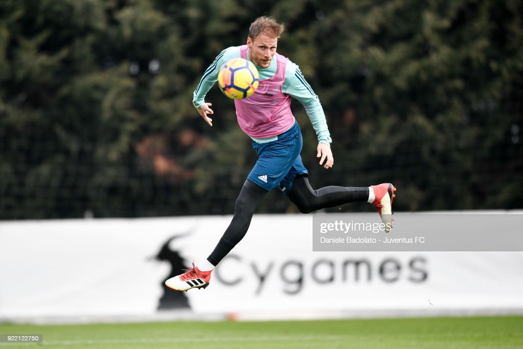 Benedikt Howedes at Juventus Center Vinovo on February 21, 2018 in Vinovo, Italy.