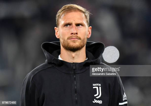 Benedikt Howedes of Juventus looks on before the Serie A match between Juventus and FC Crotone at Allianz Stadium on November 26 2017 in Turin Italy