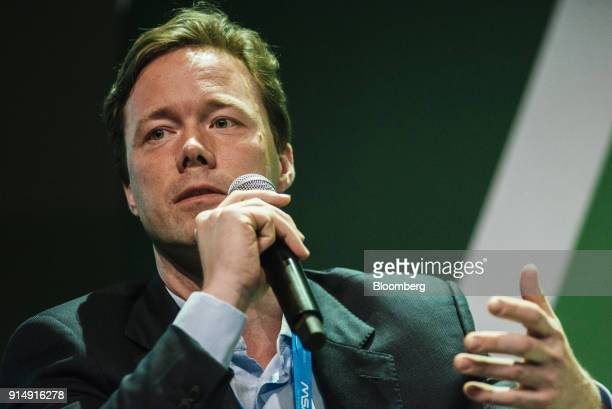 Benedikt Sobotka chief executive officer of Eurasian Resources Group BV speaks during a panel discussion on the second day of the Investing in...