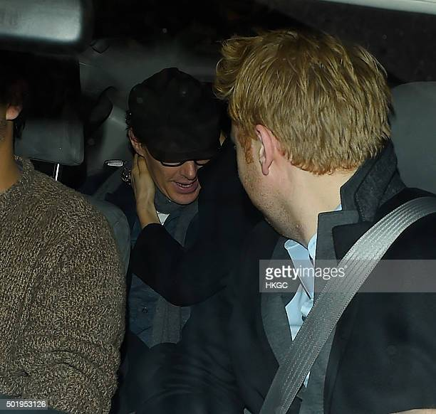 Beneditch Cumberbatch leaves Keith Richard's birthday celebration held at a private residence on December 18 2015 in London England