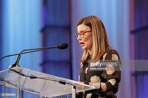 Beneficial Bank executive vice president chief administrative officer Joanne Ryder speaks onstage during the Pennsylvania Conference for Women 2016...