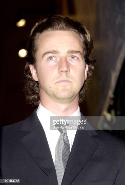 """Benefit Co-Chair Edward Norton during Friends of the High Line Party to Celebrate """"Designing the High Line"""" at Vanderbilt Hall, Grand Central..."""