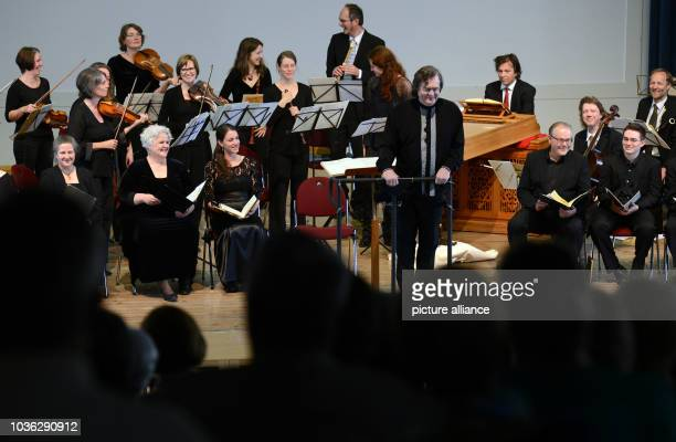 A benefit concert in Troeglitz Germany 21 June 2015 The Leipzig Baroque Orchestra and the Leipzig Bach Soloists conducted by Georg Christoph Biller...