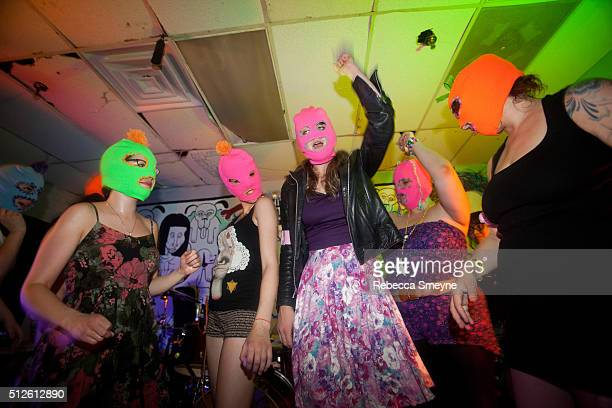 A benefit for Pussy Riot drew a wild crowd at Death By Audio on June 12 in Brooklyn NY