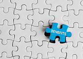 Benefits, Jigsaw puzzle concept.