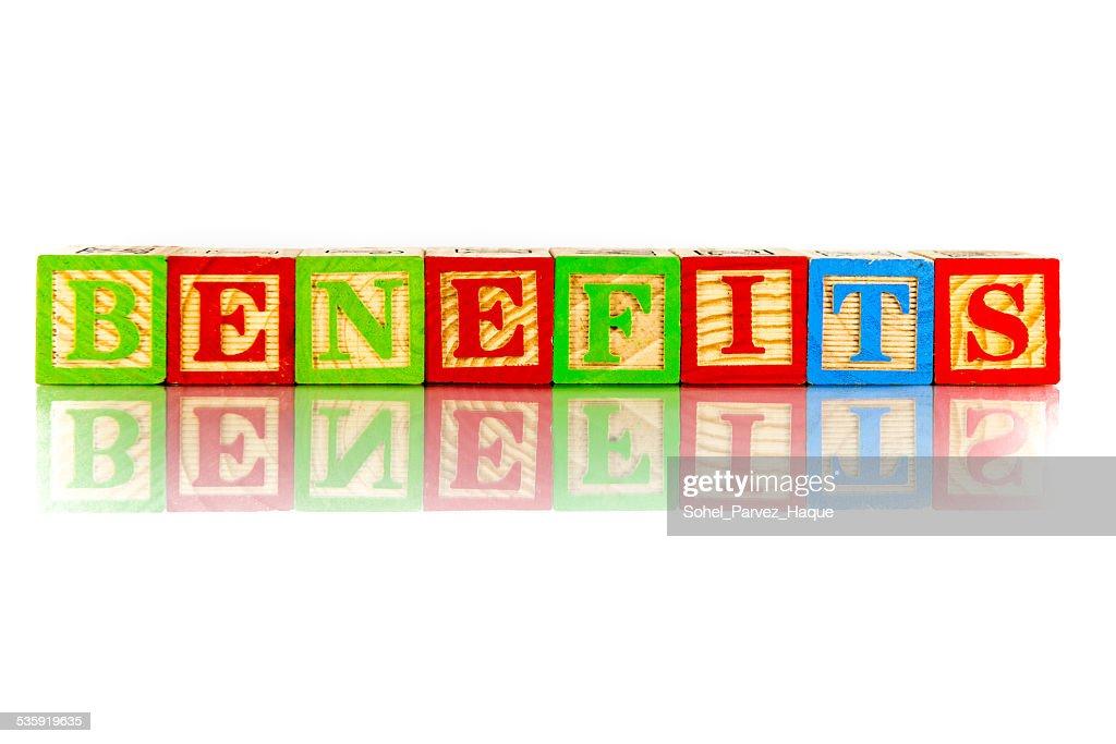benefits : Stock Photo