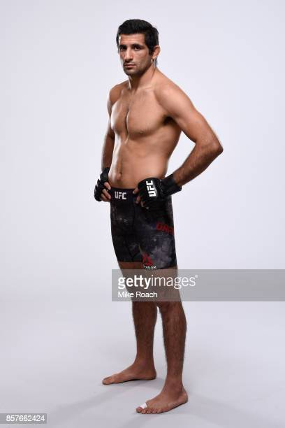 Beneil Dariush of Iran poses for a portrait during a UFC photo session on October 4 2017 in Las Vegas Nevada