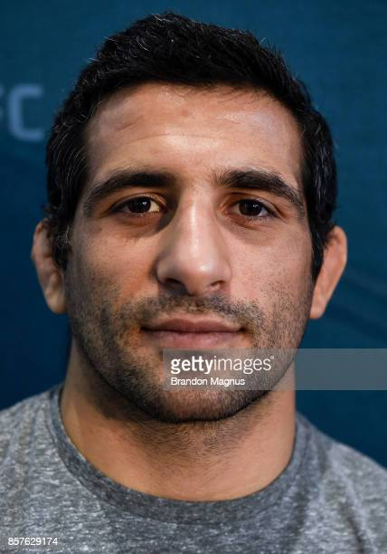 Beneil Dariush of Iran poses for a portrait during the UFC 216 Ultimate Media Day on October 4 2017 in Las Vegas Nevada