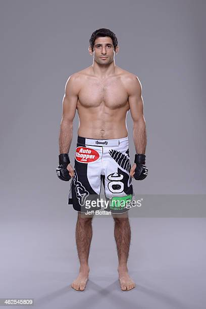 Beneil Dariush poses for a portrait during a UFC photo session on January 12 2014 in Duluth Georgia