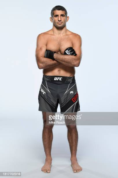 Beneil Dariush poses for a portrait during a UFC photo session on May 12, 2021 in Houston, Texas.