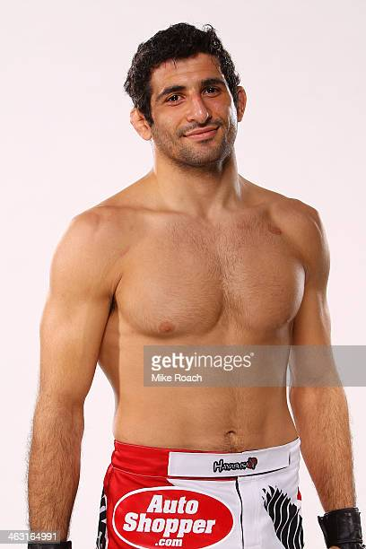 Beneil Dariush poses for a portrait following his victory against Charlie Brenneman during the UFC Fight Night event inside The Arena at Gwinnett...