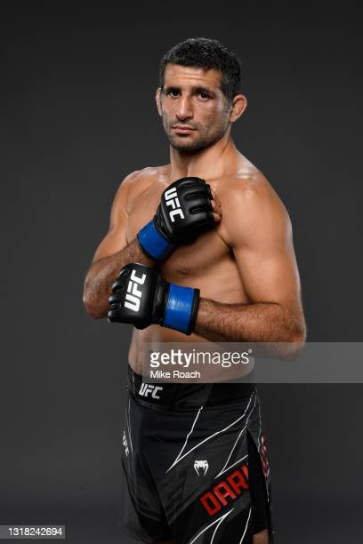 Beneil Dariush poses for a post fight portrait backstage during the UFC 262 event at Toyota Center on May 15, 2021 in Houston, Texas.