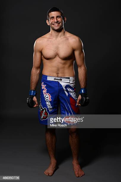 Beneil Dariush poses for a post fight portrait during the UFC 185 event at the American Airlines Center on March 14 2015 in Dallas Texas