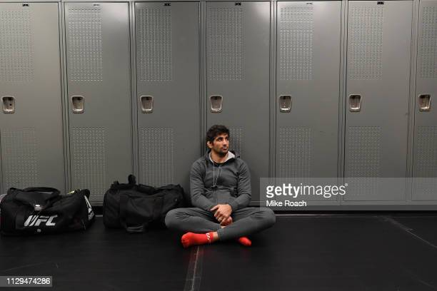 Beneil Dariush waits backstage during the UFC Fight Night event at Intrust Bank Arena on March 9 2019 in the Wichita Kansas