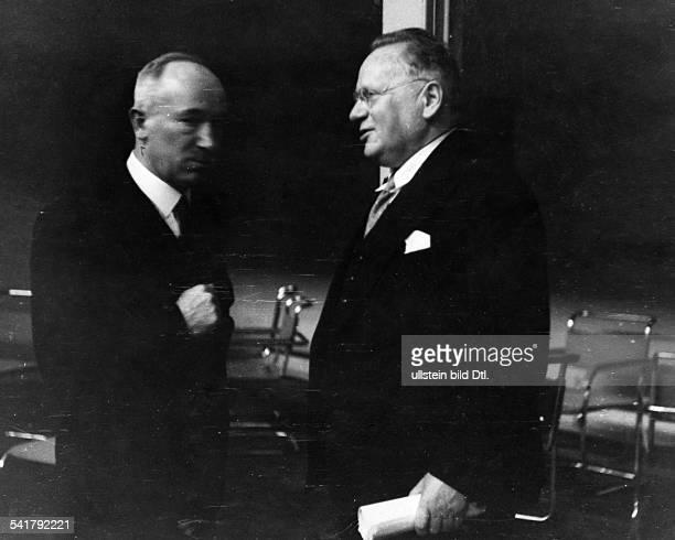 Benes Edvard Politician Czechoslovakia*28051884Foreign Minister of Czechoslovakiatalking with Maxim Litvinov People's Comissar for Foreign Affairs...