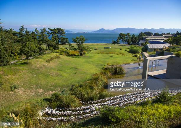 Benesse house garden Seto Inland Sea Naoshima Japan on August 24 2017 in Naoshima Japan