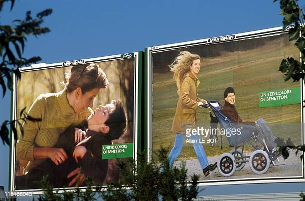 Benetton Advertising with disabilities in Nantes France on September 28 1998