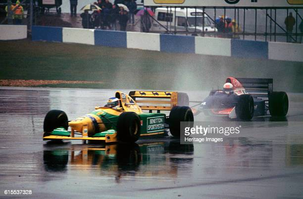 Benetton B193A Michael Schumacher 1993 Euro GP at Donington Artist Unknown