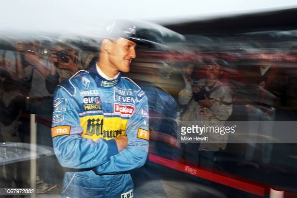 Benetton driver Michael Schumacher of Germany prepares for qualifying during the San Marino Grand Prix at the Autodromo Enzo e Dino Ferrari on April...