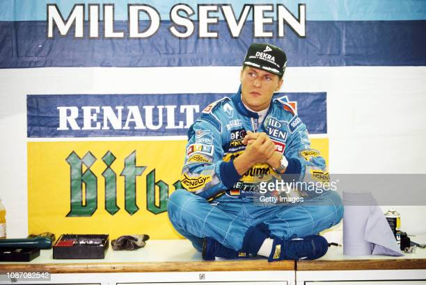 Benetton driver Michael Schumacher of Germany prepares for qualifying during the Italian Grand Prix at the Autodromo Nazionale Monza on September...