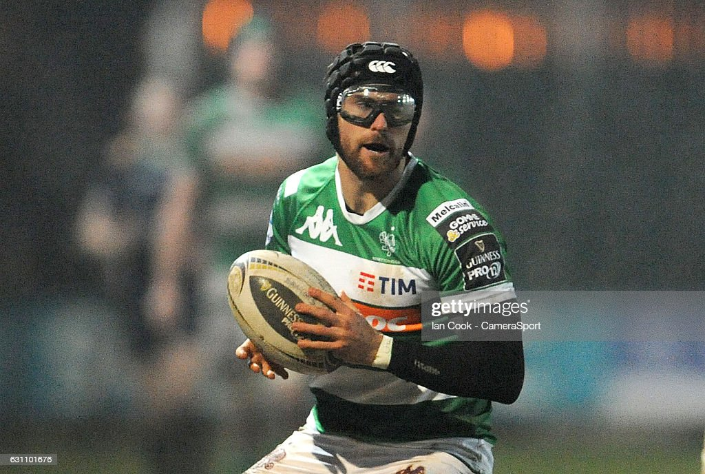 Benetton Treviso's Ian McKinley during the Guinness PRO12 Round 13 match between Newport Gwent Dragons and Benetton Rugby Treviso at Rodney Parade on January 6, 2017 in Newport, Wales.