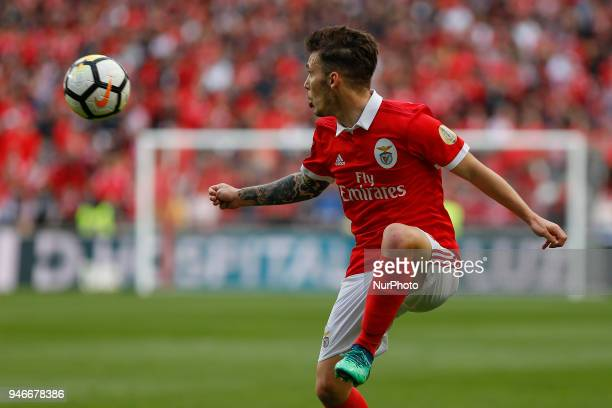 SL Benfcas Defender Alex Grimaldo from Spain during the Premier League 2017/18 match between SL Benfica v FC Porto at Luz Stadium in Lisbon on April...