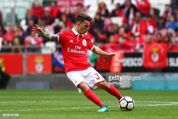 SL Benfcas Defender Alex Grimaldo from Spain during the Premier League 2017/18 match between SL Benfica vs CD Tondela at Estadio da Luz in Lisbon on...