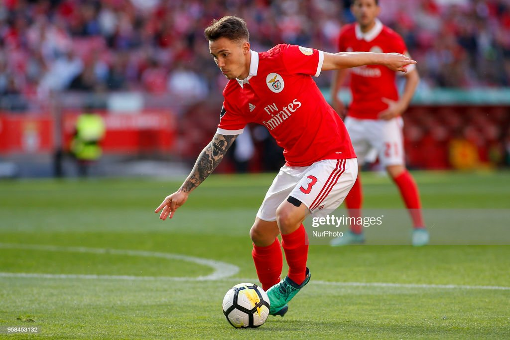SL Benfcas Defender Alex Grimaldo from Spain during the Premier League 2017/18 match between SL Benfica and Moreirense FC, at Estadio da Luz on May 13, 2018 in Lisbon, Portugal.